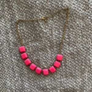 Hot Pink Bauble Necklace